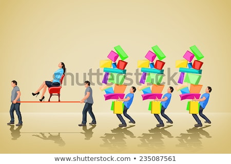 Glamour girl standing and carrying shopping bags Stock photo © experimental