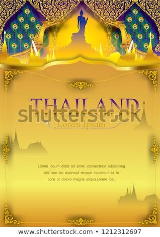 Taylandlı · geleneksel · taş · Bina · adam - stok fotoğraf © smithore