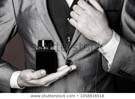 mannelijke · parfum · geur · nek · mannen - stockfoto © lovleah