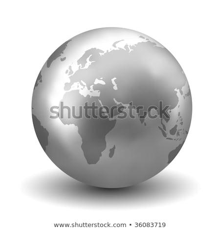 銀 · 世界中 · 金属 · 地球 · 現実的な - ストックフォト © dmitry_rukhlenko