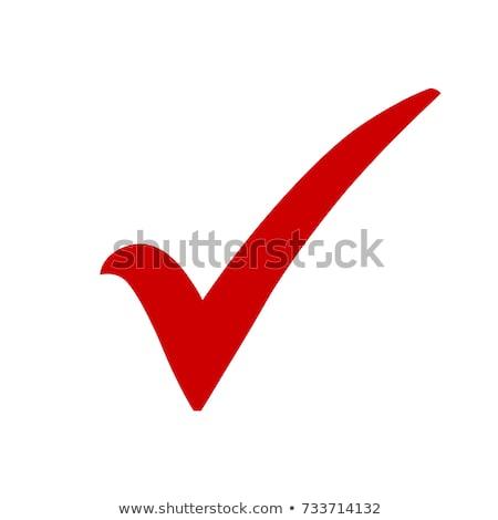 czerwony · skorygowania · sprawdzić · ocena · odizolowany · biały - zdjęcia stock © devon