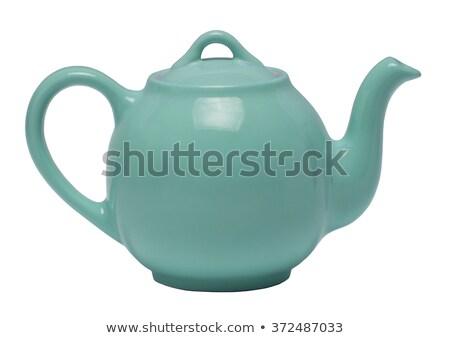 blue teapot on a white background stock photo © domako