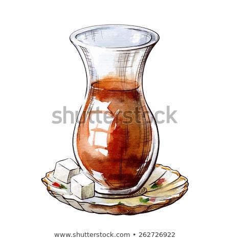 traditioneel · turks · glas · geserveerd - stockfoto © elly_l