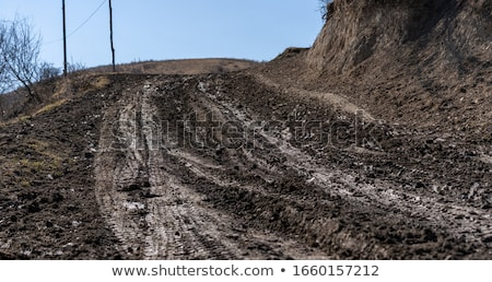 Wheel truck that left traces on the ground Stock photo © rufous