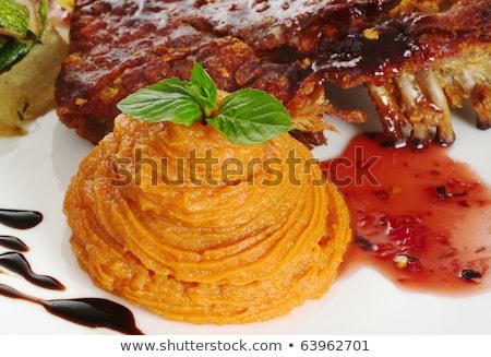 groenten · zoete · aardappel · hoofdgerecht · Rood · saus - stockfoto © ildi