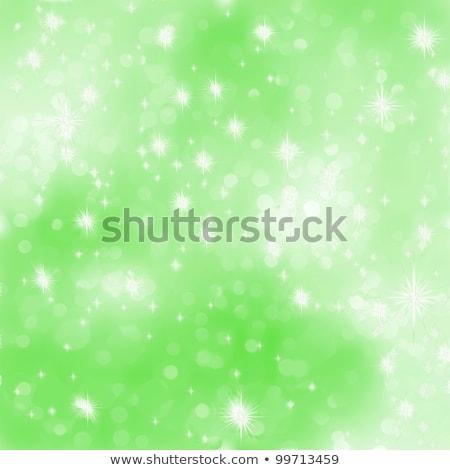 Glittery green Christmas background. EPS 8 Stock photo © beholdereye