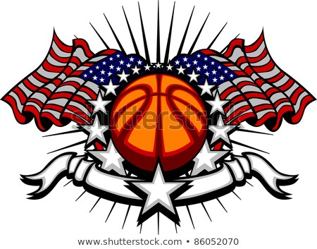Basketball Vector Template With Flags And Stars Stock foto © ChromaCo
