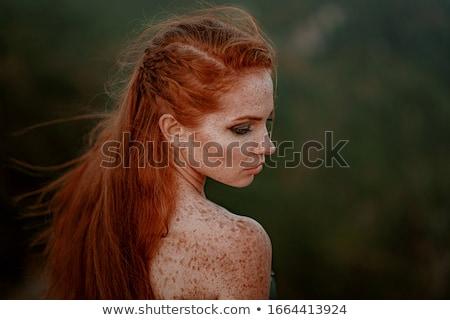 Zdjęcia stock: Wojownika · średniowiecznej · miecz · szary · kobieta