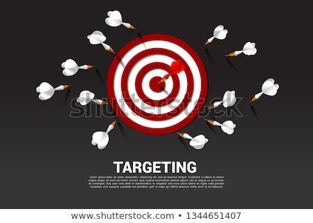 Dartboard with a dart hit on target stock photo © experimental