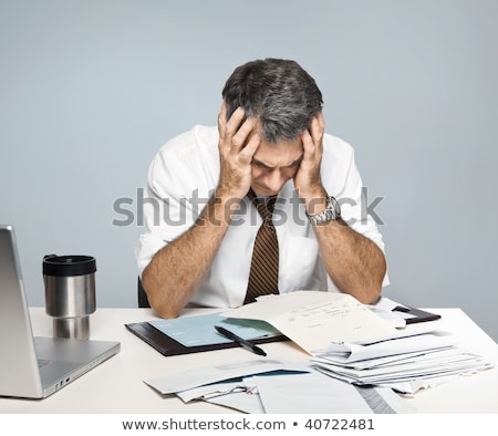 Senior man paying his bills Stock photo © photography33