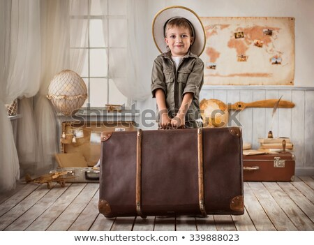 Portrait of boy with big hat Stock photo © photography33
