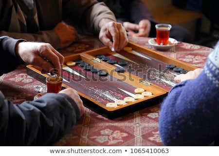 young man playing game with elderly woman stock photo © photography33