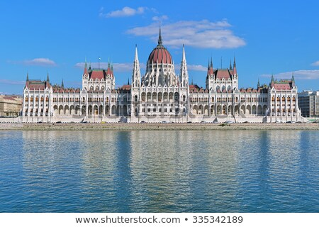 Hungarian Houses of Parliament in Budapest Stock photo © AndreyKr
