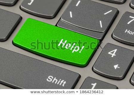 yeşil · düğme · klavye · 3d · illustration · modern - stok fotoğraf © fotoscool