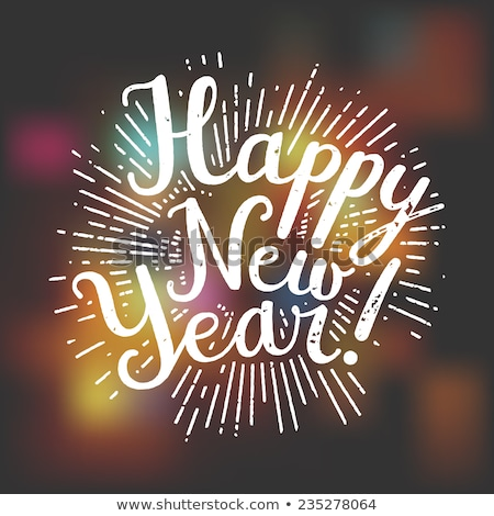boldog · új · évet · pecsét · eredeti · papír · nyomtatott · tinta - stock fotó © IMaster