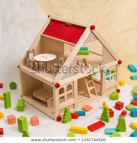 девушки · кукла · дома · счастливая · девушка · мишка · домой - Сток-фото © brebca