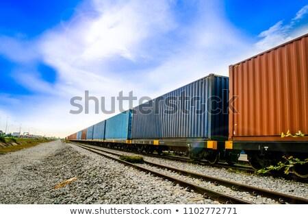 локомотив контейнера камней Сан-Паулу красный скорости Сток-фото © cifotart