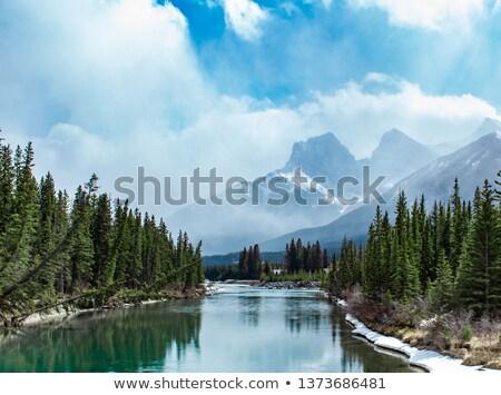 Hazy Grand River Morning Stock photo © ca2hill