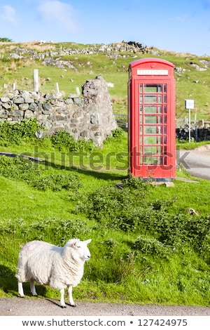 telephone booth clashnessie highlands scotland stock photo © phbcz