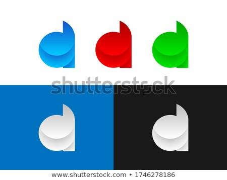 Bleu gradient icônes web applications Photo stock © liliwhite