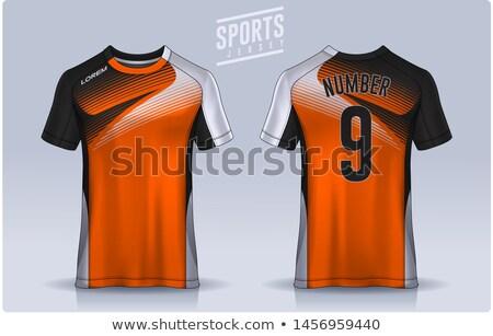 Futball fekete narancs fehér közelkép háttér Stock fotó © Quka