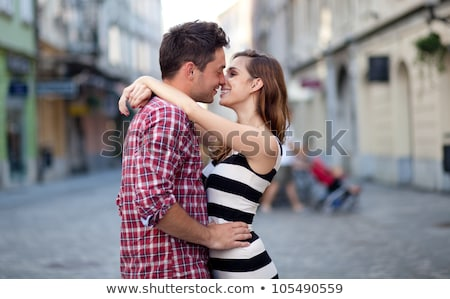 Portrait Of A Cute Couple, Focus On Female stock photo © get4net