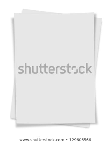 close up  stack of papers on white background Stock photo © Zhukow