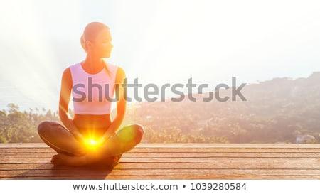 Csakra absztrakt fény terv egészség jóga Stock fotó © rioillustrator
