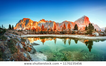 pietra rossa lake italian alps stock photo © antonio-s