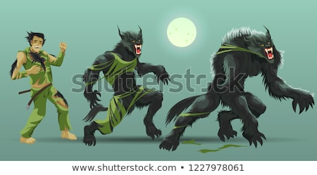 Transformation of werewolf stock photo © carbouval