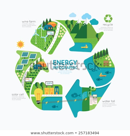 Wind Power Energy.  Save the planet concept. Stock photo © dacasdo