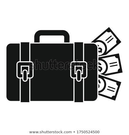 negro · zapato · dinero · blanco · piel · mujeres - foto stock © lunamarina
