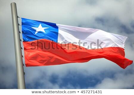 Vlag wolken Santiago 2013 reus groot Stockfoto © fxegs