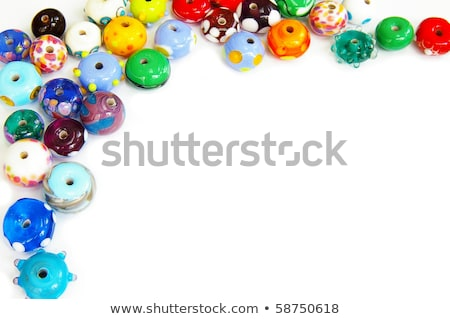 frame of colorful beads Stock photo © Discovod