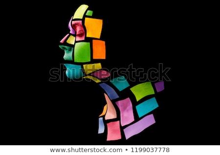 Colorful picture of an attractive woman Stock photo © konradbak