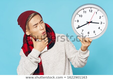Watch Big Man Sneezing Stock photo © ozgur