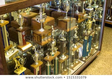 középiskola · trófea · tok · kirakat · trófeák · sportok - stock fotó © 805promo
