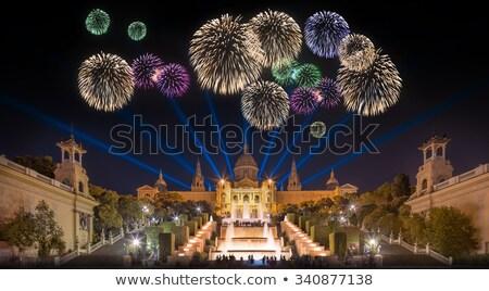 фейерверк · Барселона · ночь · мнение · город · здании - Сток-фото © photosil
