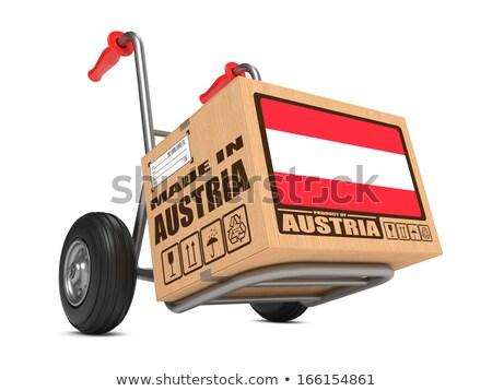 Autriche main camion pavillon slogan Photo stock © tashatuvango