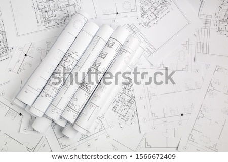 Construcción dibujo lápiz herramientas casa trabajo Foto stock © Kurhan