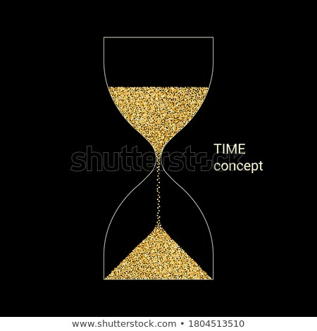 time for action in golden clock symbol Stock photo © marinini