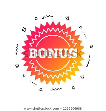 extra bonus in flat design label Stock photo © marinini