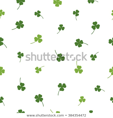 dark green seamless clover pattern stock photo © heliburcka