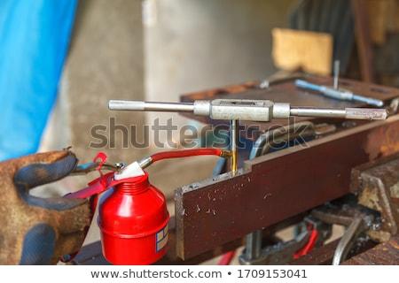 Csap franciakulcs fehér munka ipari gép Stock fotó © FOKA