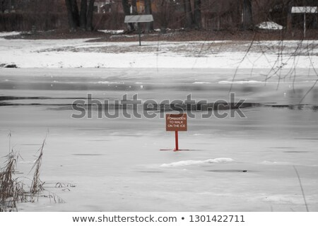 thin ice sign stock photo © habman_18