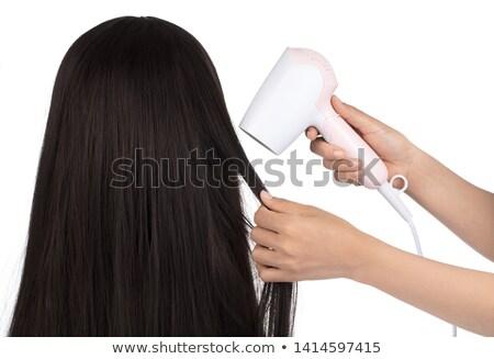 стороны марионеточного волос изолированный белый Сток-фото © michaklootwijk