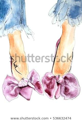 uzun · kadın · bacaklar · naylon · çorap · yüksek · topuklu - stok fotoğraf © amok
