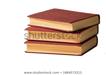 tattered book stack over white background Stock photo © natika