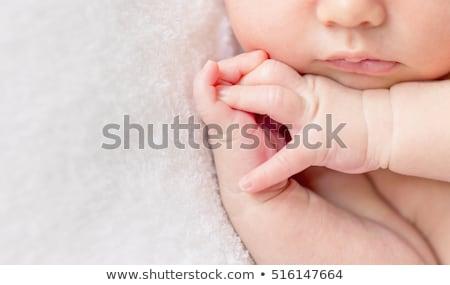 Tatlı bebek küçük el Stok fotoğraf © runzelkorn