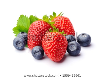 Stok fotoğraf: Berries Fruits Isolated On White